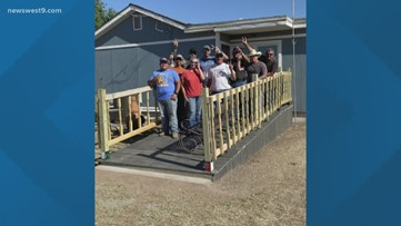 Deputies spend off days rebuilding porch for West Odessa woman