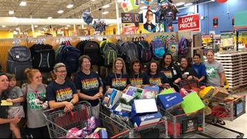 Midland teacher scores free school supplies at H-E-B shopping spree