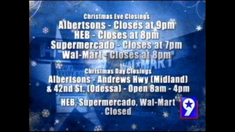 Is Albertsons Open Christmas Day.Select Stores Will Be Open On Christmas Day Newswest9 Com