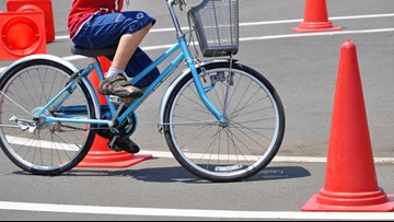 Alpine PD holding bicycle rodeo