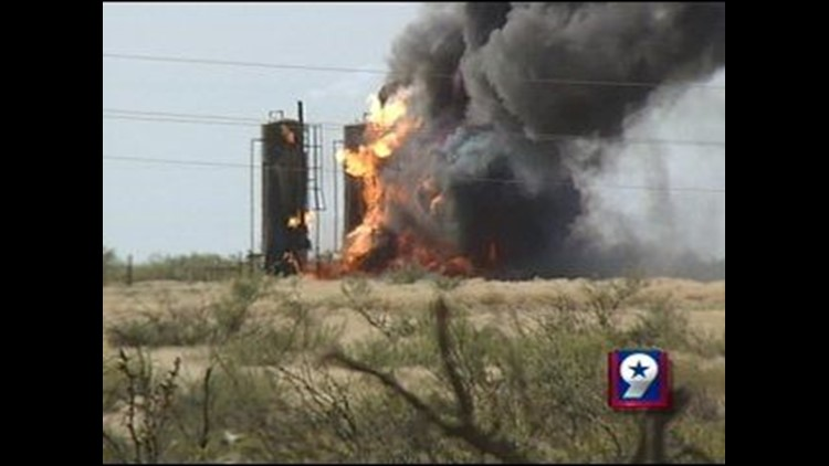 Oilfield Fire Sparks Up East of Monahans