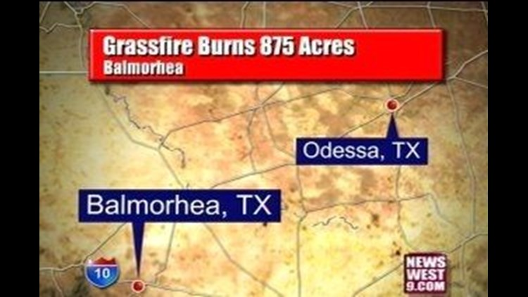 Firefighters Extinguish Grassfire in Balmorhea, Close to 900 Acres Burned