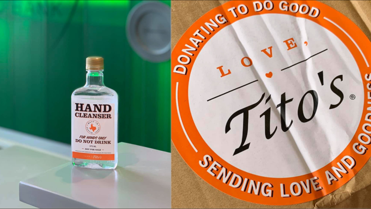 West Texas Food Bank receives donation of Tito's hand sanitizer
