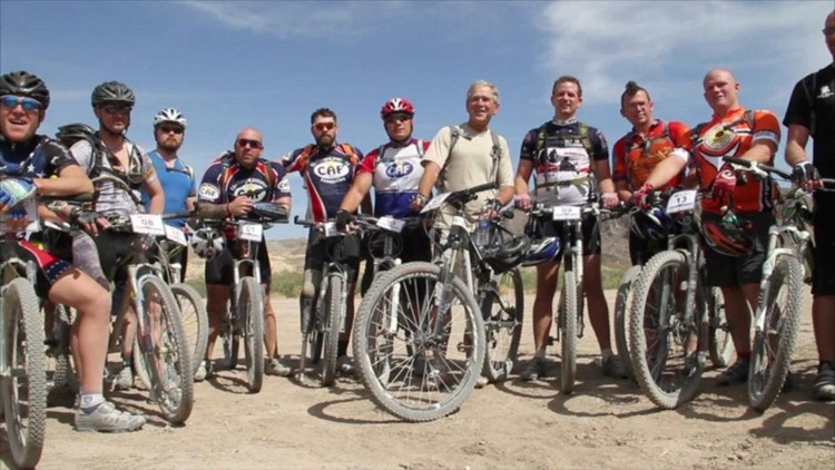 Former President Bush Honors Commitment to Wounded War Heroes