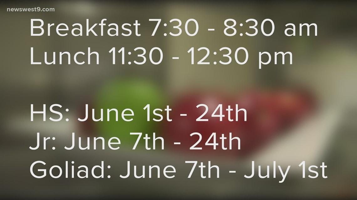 Big Spring ISD summer meal program set to begin  June 1