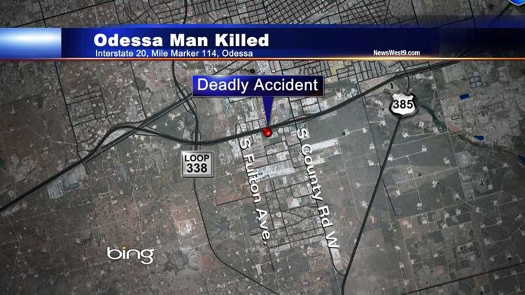 Odessa Man Killed in Late Night Accident | newswest9.com on interstate 70 in illinois, interstate 35 mile marker map, interstate 44 mile marker map, pennsylvania interstate 81 mile marker map, interstate highway map of texas, interstate 40 mile marker, interstate maps with mile markers,