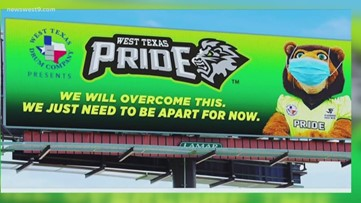 Pride's new billboards preach social distancing