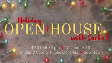 Midland library hosts holiday open house event