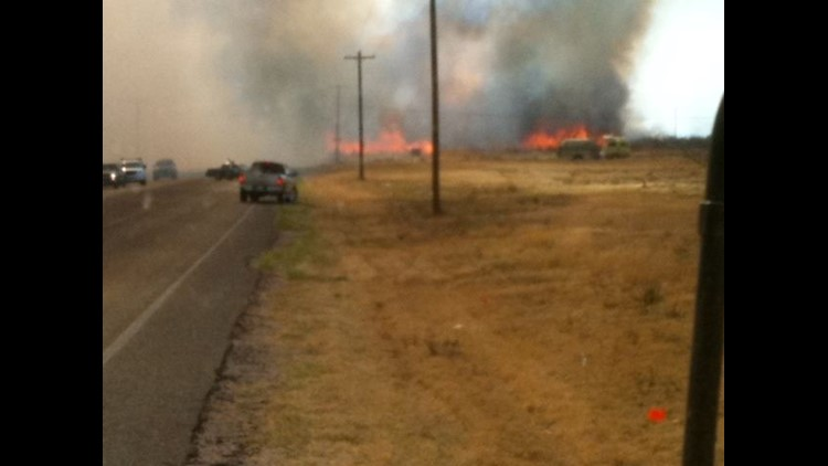 NEWS FEED: Fire Crews Battling Grassfires in the Basin