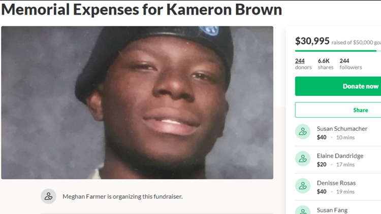 Kameron Brown GoFundMe page soldier killed in Odessa shooting