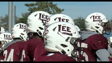 Midland Lee Football features #32 in honor of Cedric Benson