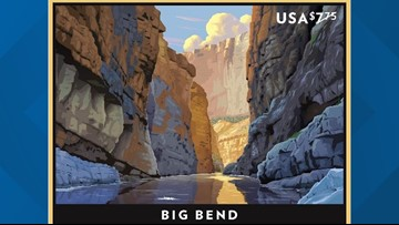 USPS rolls out Texas' very own Big Bend stamp
