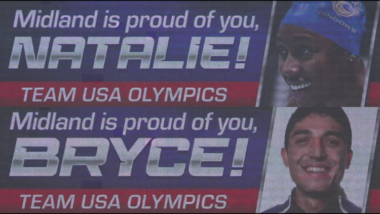 'Midland is proud of you': Billboards celebrate Natalie Hinds, Bryce Hoppel qualifying for Olympics