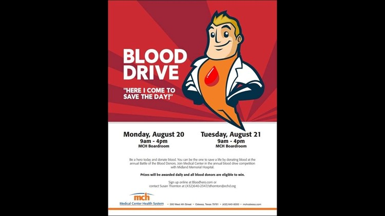 fe6f73f31 MCH to hold blood drive for Battle of the Blood Donors | newswest9.com