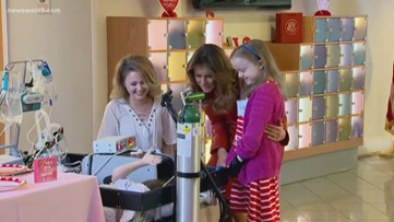 First Lady Melania Trump visits children's hospital