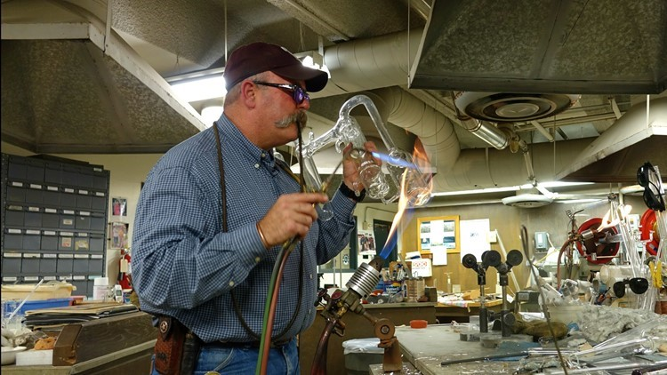 'Hot glass looks just like cold glass': at A&M, longtime glassblower melds art with science
