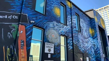 Artist offers update on downtown library mural