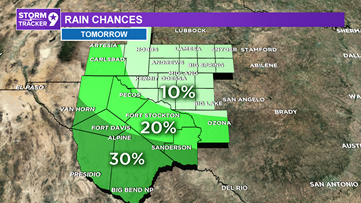 Isolated storm chances Thursday, but most will stay dry & warm