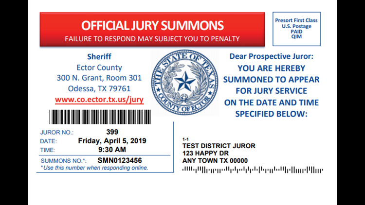 Ector Co. switches to postcards for jury summons