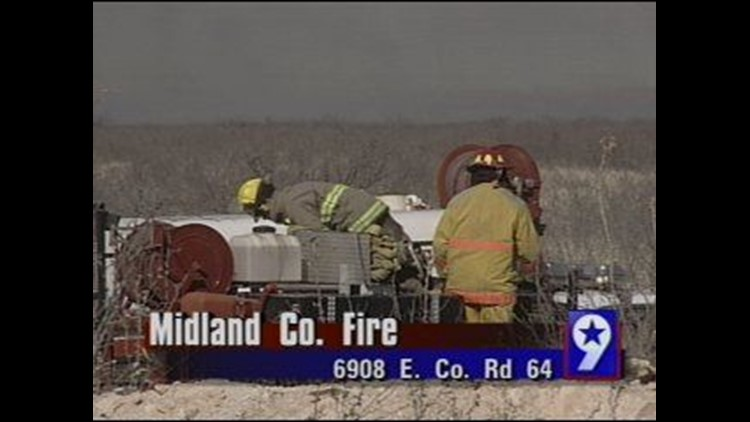 Grassfire Erupts in Midland County