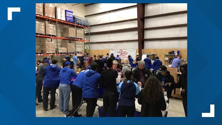 West Texas Food Bank holds Food 2 Kids volunteer event