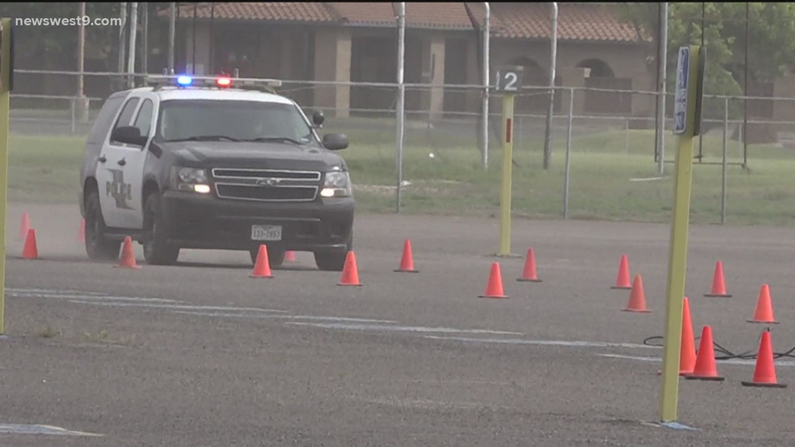 OPD cadets take part in professional police driving training