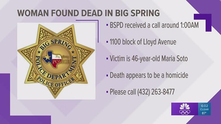 Big Spring Police Department investigates potential homicide