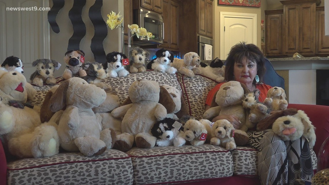 Midland woman donating plush puppies to Alzheimer's patients to honor father's memory