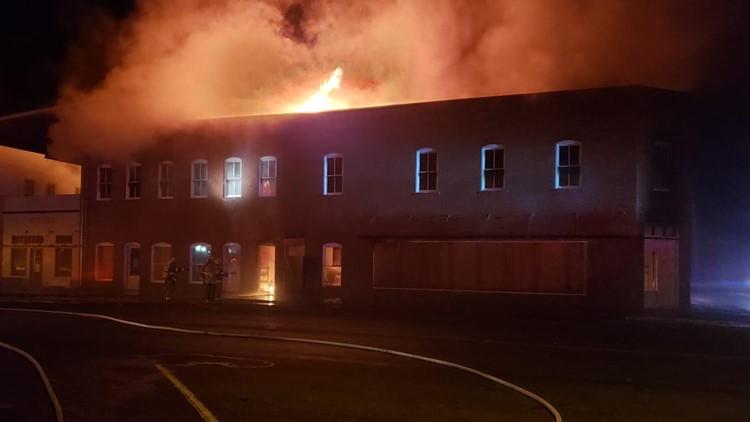 Marfa Fire Department battles overnight fire at Donald Judd Architecture Office