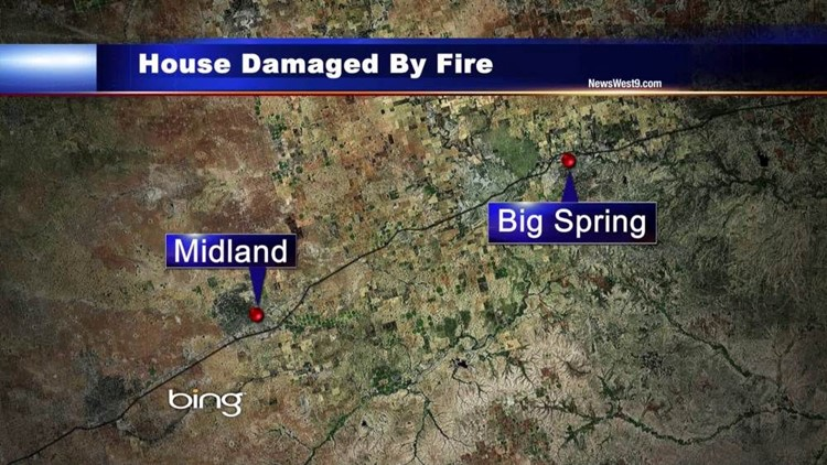 Weekend Fire Damages Big Spring Home