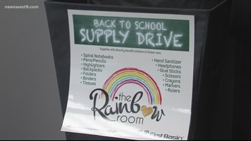 4th annual back to school supply drive benefits Rainbow Room children