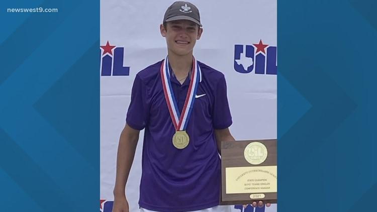 MHS senior Tyler Stewart wins singles tennis state championship
