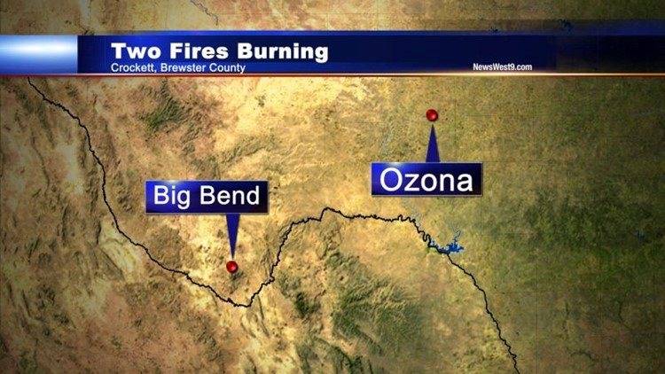 Two Fires Continue to Burn in West Texas