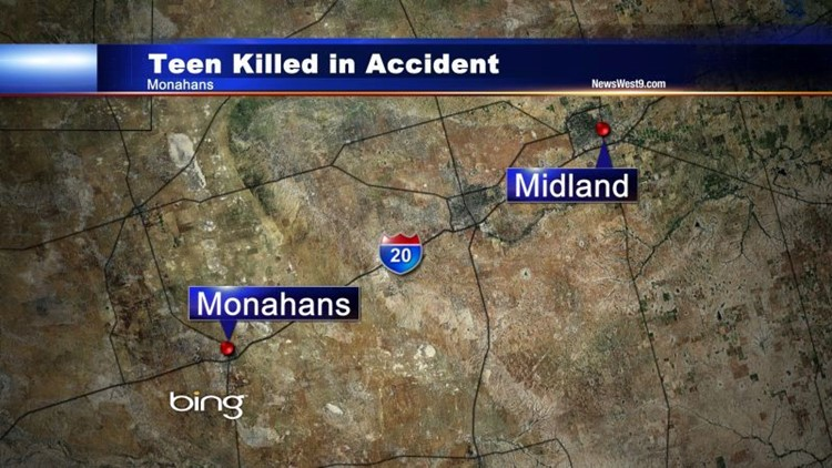 UPDATE: Accident in Monahans Kills One Teen, Injures Another