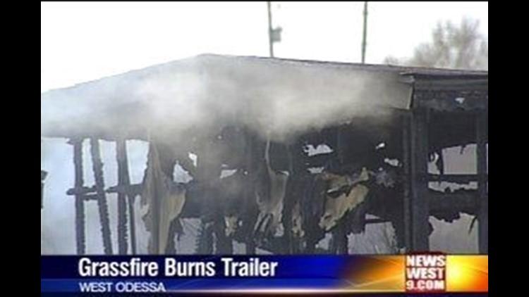 Grassfire Burns Trailer in West Odessa