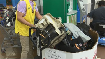 Walmart trading gift cards for used infant car seats