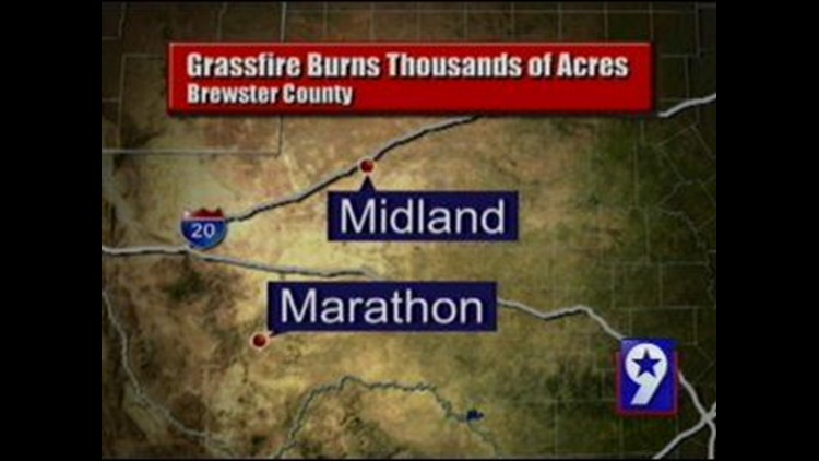 Brewster County Firefighters Extinguish Massive Blaze