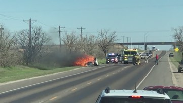 Midland County Sheriff's Office responding to vehicle fire
