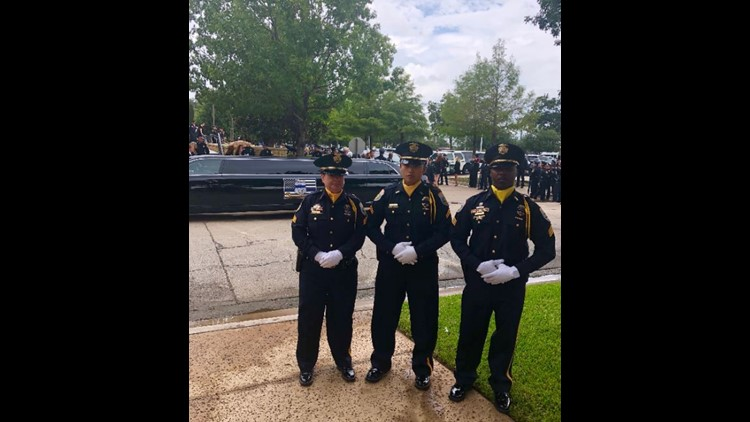 OPD Honor Guard shows support for fallen Fort Worth officer