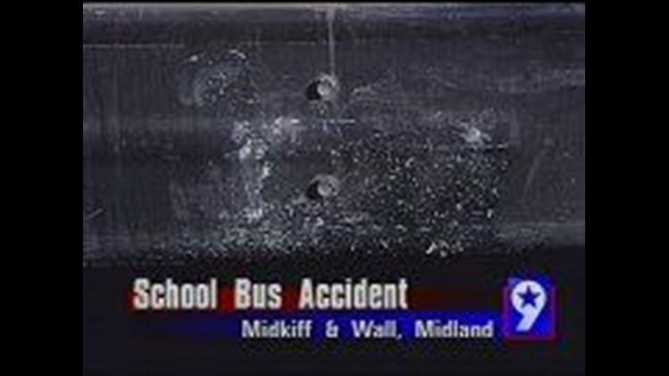 Car Slams Into School Bus in Midland