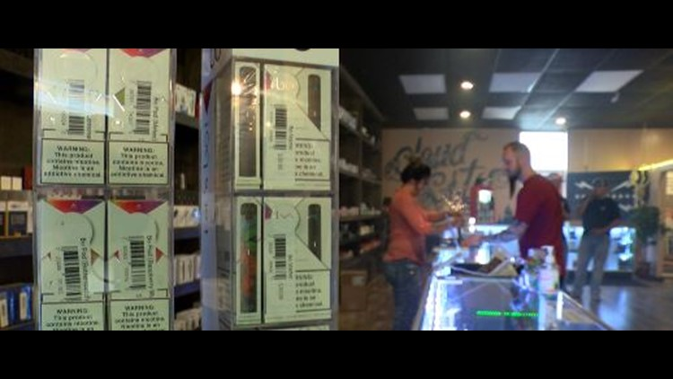 Local vape shops speaks out about raising the legal age to