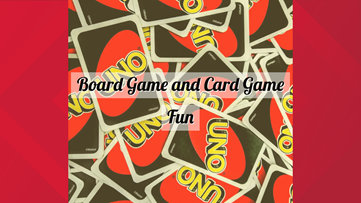 Have a board game and card game day while indoors
