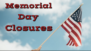 City offices closing for Memorial Day