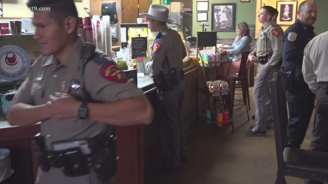 Odessa Police host Coffee with a Cop