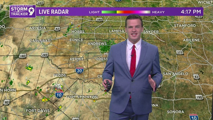 A few scattered storms along with hot temps this weekend
