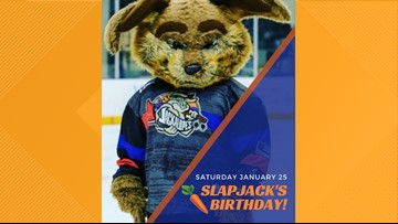 Odessa Jackalopes mascot hosts birthday bash