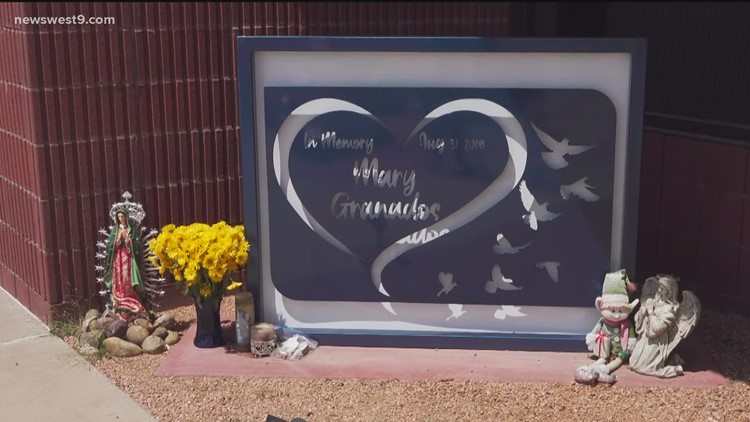 Memorial set up at post office for Midland-Odessa mass shooting victim