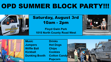 OPD holding summer block party