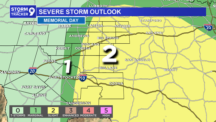 Severe Thunderstorms possible once again on Memorial Day
