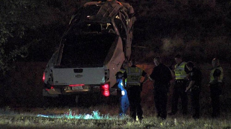 Driver Ejected in Loop 250 Rollover Wreck